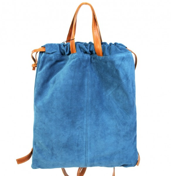 Tote bag / backpack royalblau