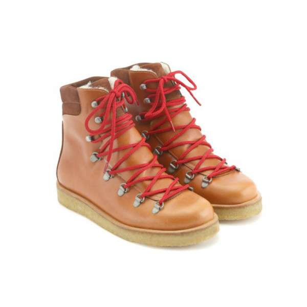 Angulus - Boot with laces - Cognac