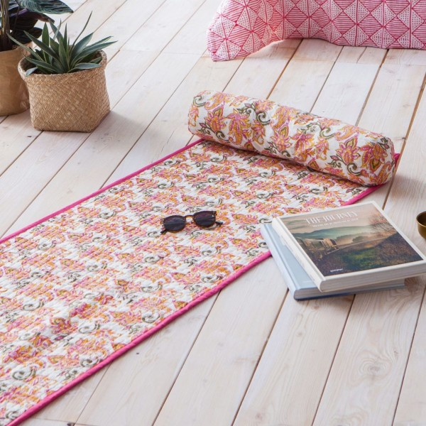 Pink Chintz Beach Mat
