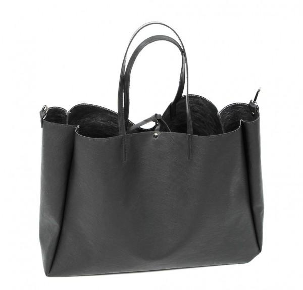 Tote Bag Maxi - schwarz/silber