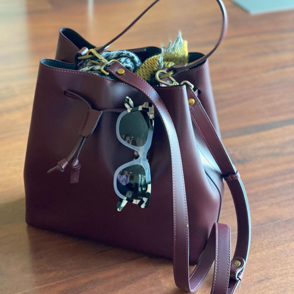 Prima Ballerina - Bucket Bag Eva Bordeaux