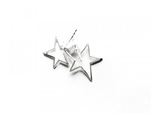 Atelier Coquet - Ohrstecker Etoile Silber