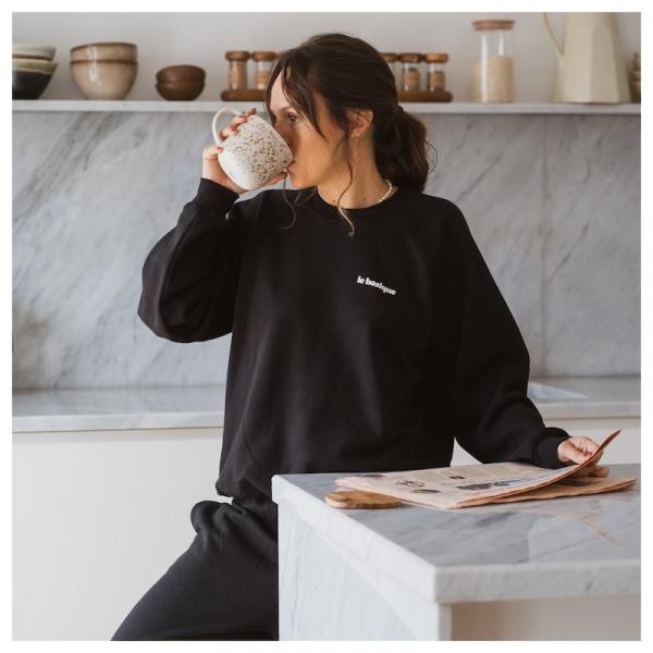 "Le mot - Sweatshirt ""le basique"" black"