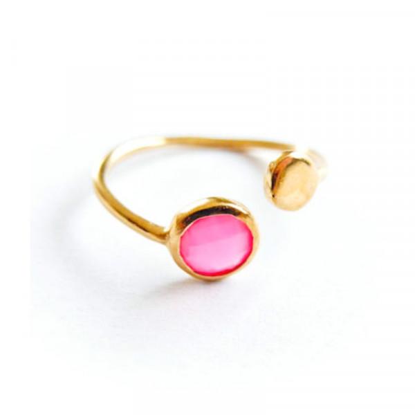Atelier Coquet Ring Double point Achat Vergoldet