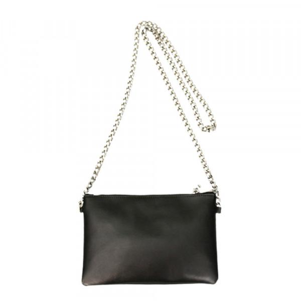 Minibag Doppel Schwarz mit Kette