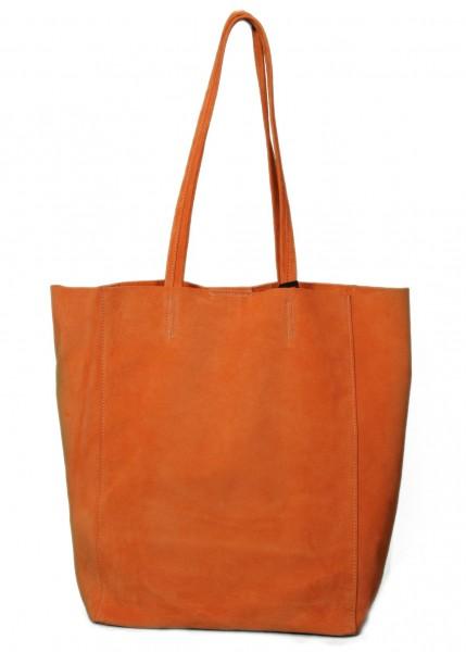 Tote Bag Wildleder Orange