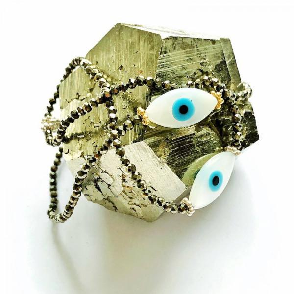 Atelier Coquet - Armband Yeux Pyrit
