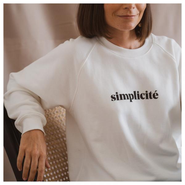 """Le mot - Sweatshirt """"simplicité"""" white"""