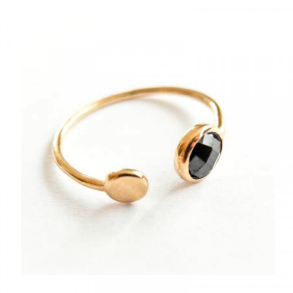 Atelier Coquet Ring Double point Spinell Vergoldet