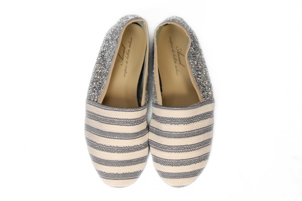 Anniel - Slipper Navy Argento