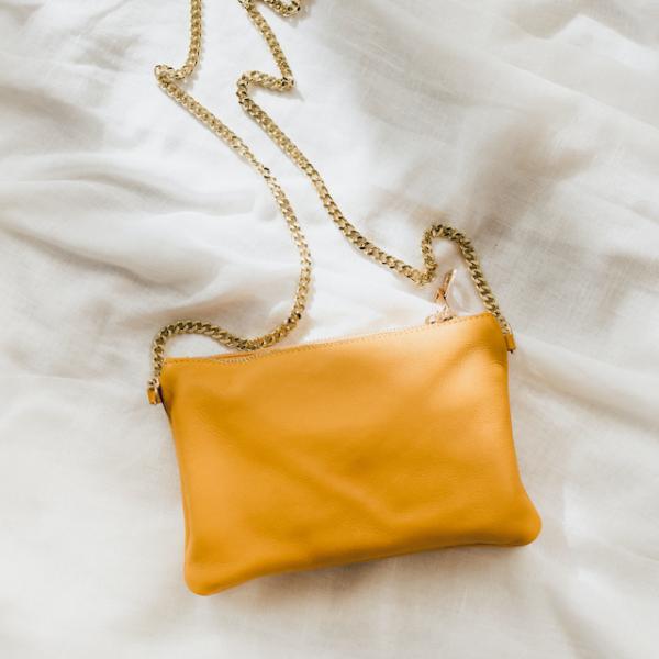 Umhängetasche Luna Senf (Gold) - Einzeln