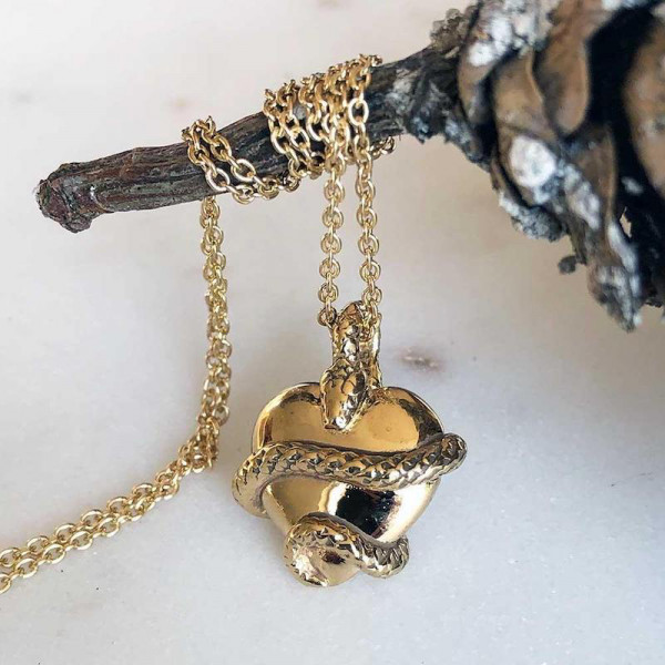 Wise Heart Gold Charm Necklace