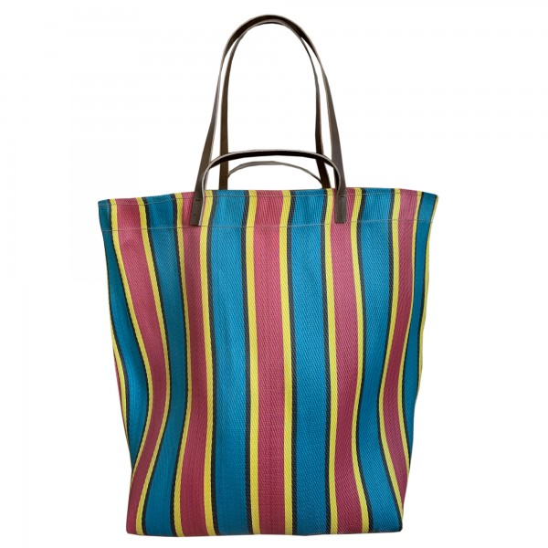 Spencer Devine Assam Market Bag Red & Blue