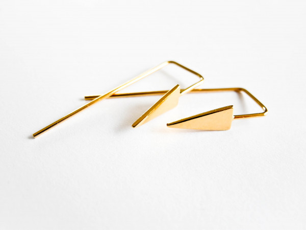 Atelier Coquet - Ohrhaken Triangel Vergoldet