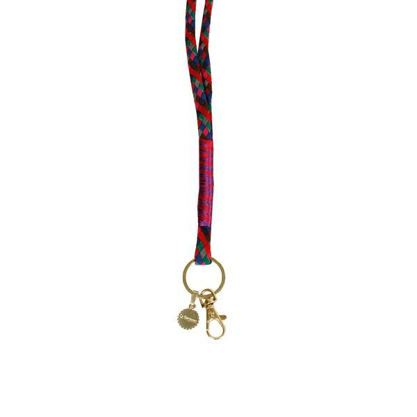 La Garconne Keychain Red Blue Grey