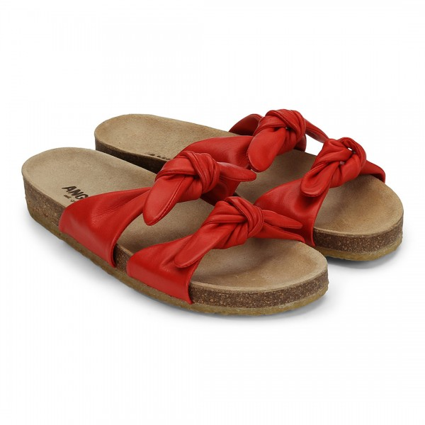 Angulus - Sandalen Knoten Rot