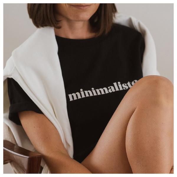 """Le mot - T-Shirt """"minimalisme"""" black"""