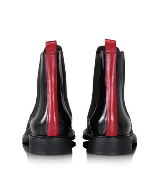 Billi Bi 7424 Chelsea Boots Roter Streifen