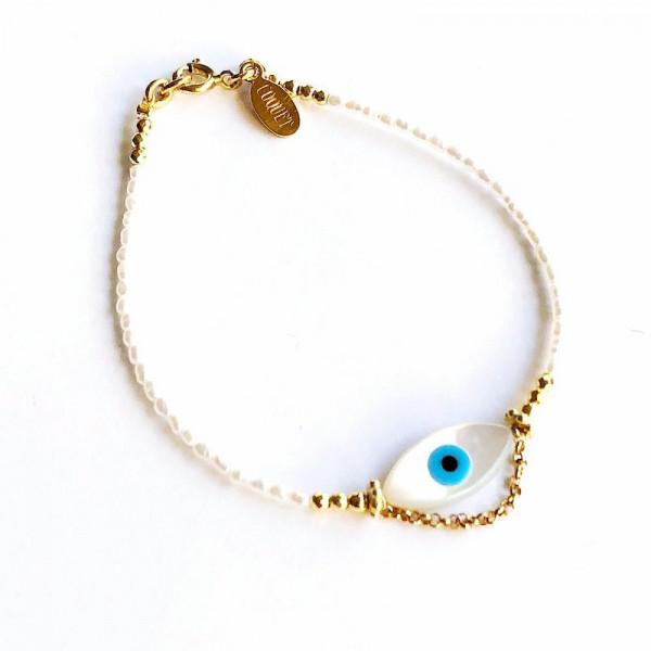 Atelier Coquet - Armband Yeux Arielle Vergoldet