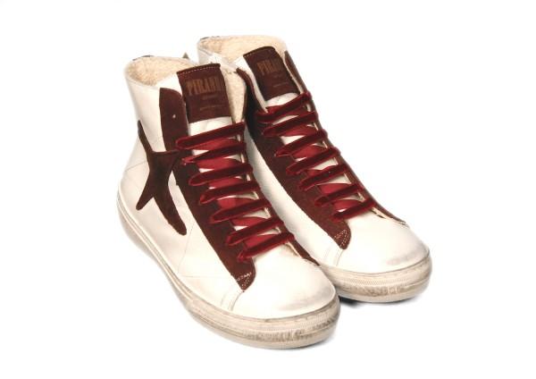 Sneakers Piranha Bordeaux High