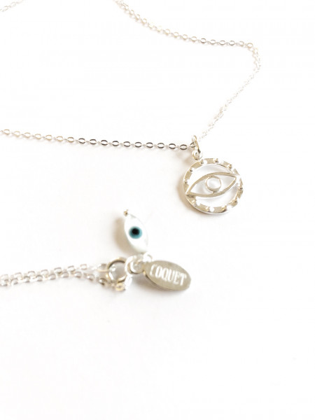 Atelier Coquet - Kette Double Yeux Silber