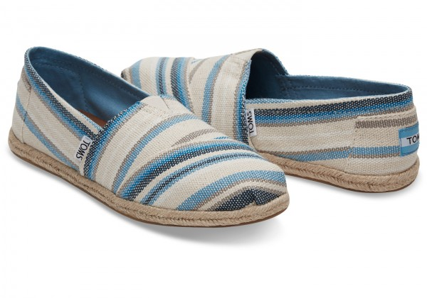 TOMS Classic Blue Aster Woven