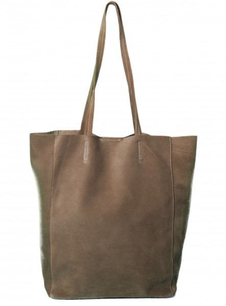 Tote Bag Wildleder Beige