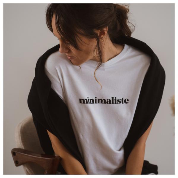 """Le mot - T-Shirt """"minimalisme"""" white"""