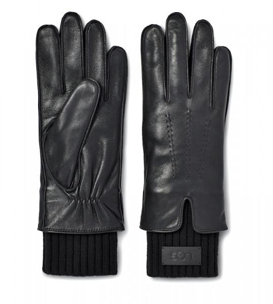 UGG - Leather Tech Knit Glove Black