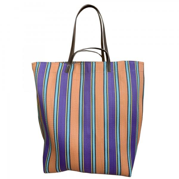 Large Assam Market Bag Magenta & Peach