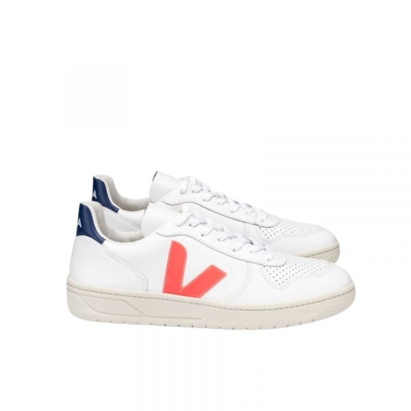 Veja - V-10 Leather Extra White Orange