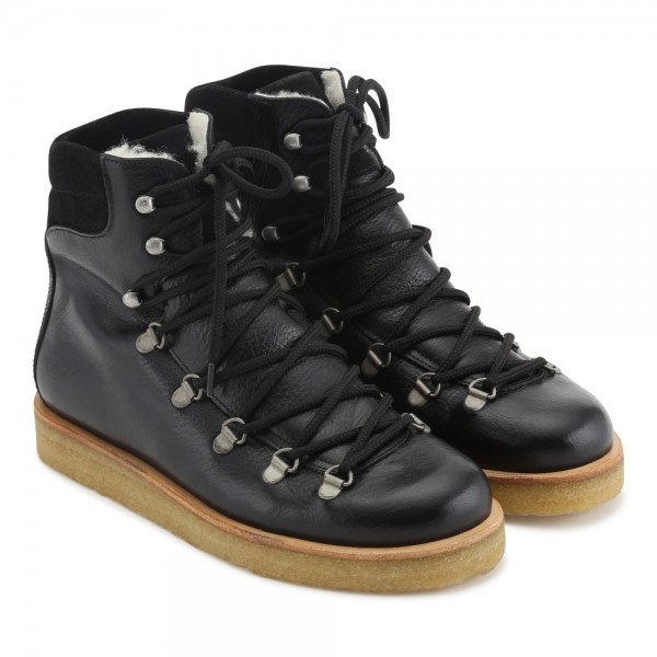 Angulus - Boot with laces - Black