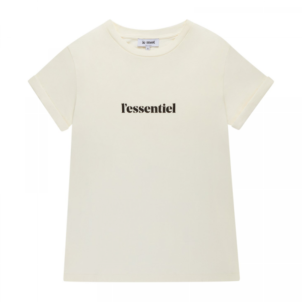 "Le mot - T-Shirt ""l'essentiel"" off-white"