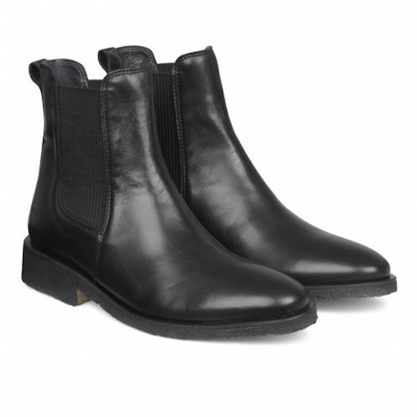 Angulus Chelsea Boots Klassisch Schwarz