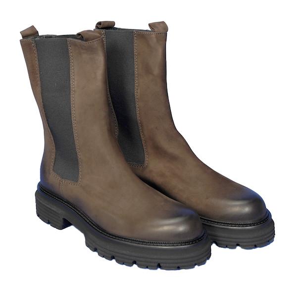 Chelsea Boots hoher Schaft Braun