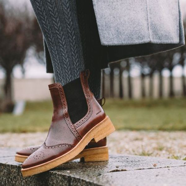 Angulus Chelsea Boots Classic Braun mit Ornament