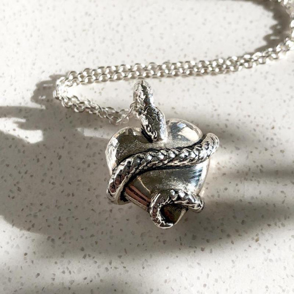 Wise Heart Silver Charm Necklace